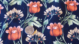 By The YARD Quilting Sewing Fabric Large Flowers Marcus Brothers Tulips ... - $7.50