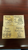 Stampin Up 1998 Simple Wishes Set of 4 RETIRED Scrapbook Card Making Crafts # - $11.83