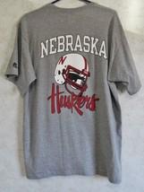 Russell Athletic Men's Large Nebraska Huskers T Shirt Gray White Red Foo... - $16.71