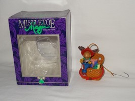 Mistletoe Magic Collection Reindeer Fishing Picnic Basket Christmas Orna... - $12.99