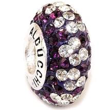 Alducchi Amethyst - Clear Swarovski Crystal .925 Silver European Charm Bead - $19.95