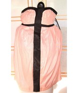 Very J Pink And Black Shimmer Dress Size S New Strapless side pockets co... - $18.76