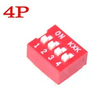 100pcs 4 Position 4P DIP-Switch 2.54mm Pitch 2 Row 8 Pin Slide DIP-Switc... - $10.40