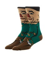 Wizard Of Oz Scarecrow Mens 360 Character Crew Cut Socks - £10.87 GBP