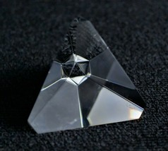 Steuben Tetrahedron Paperweight Signed Prism Pyramid - $332.50