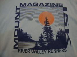 Vintage Mount Magazine 15K River Valley Runners '95 Blue T Shirt Men's Size M - $17.81