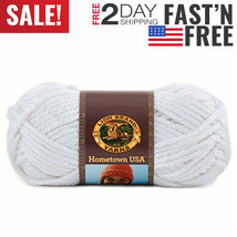 3 pack Lion Brand Yarn 135-100R Hometown USA Yarn, New York White,.. - $22.85