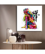 Art Oil Painting Colorful Buddha No Frame - $27.99+