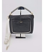 NWT Kate Spade New York Black White Leather Woods Drive Harris Satchel B... - $198.00