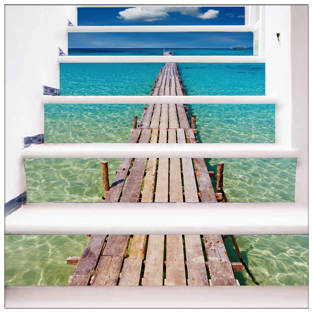 Primary image for DIY Steps Sticker Removable Stair Sticker Mural Wrap009 Beach