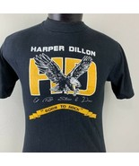 Vintage Harper Dillon T Shirt Single Stitch Tee 80s USA Crew Hanes Beefy... - $39.99