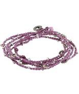 E85 COURAGE 101 inspirational beads on purple braid bracelet/necklace Gi... - $4.94
