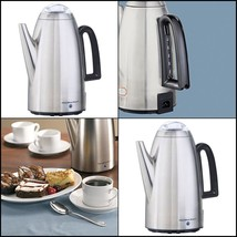 Coffee Maker Percolator 12 Cup Electric Stainless Steel Keep Warm Heater... - $53.88