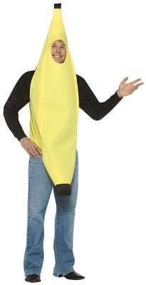 Banana Adult Teen Costume Tunic Yellow Food One Size Halloween Unique GC301