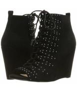 Women Jessica Simpson Barlett Open Toe Lace Up Wedge, Mult Sizes Black J... - $99.95
