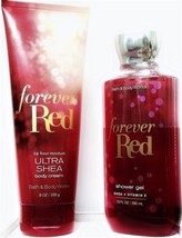 Bath and Body Works Forever Red Shower Gel and Body Cream Gift Set of 2 - $23.61