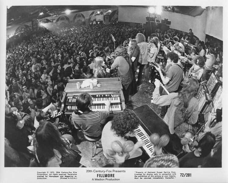 Primary image for Fillmore 1972 movie  original 8x10 photograph great shot of Fillmore West venue
