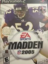 Madden NFL 2005 (Sony PlayStation 2, 2004)Arcade, E-Everyone, Football - $6.79