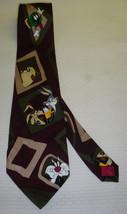Looney Tunes Mania 1993 Men's 100% Silk Neck Tie BUGS/TAZ/MARVIN/DAFFY/ETC - $9.89