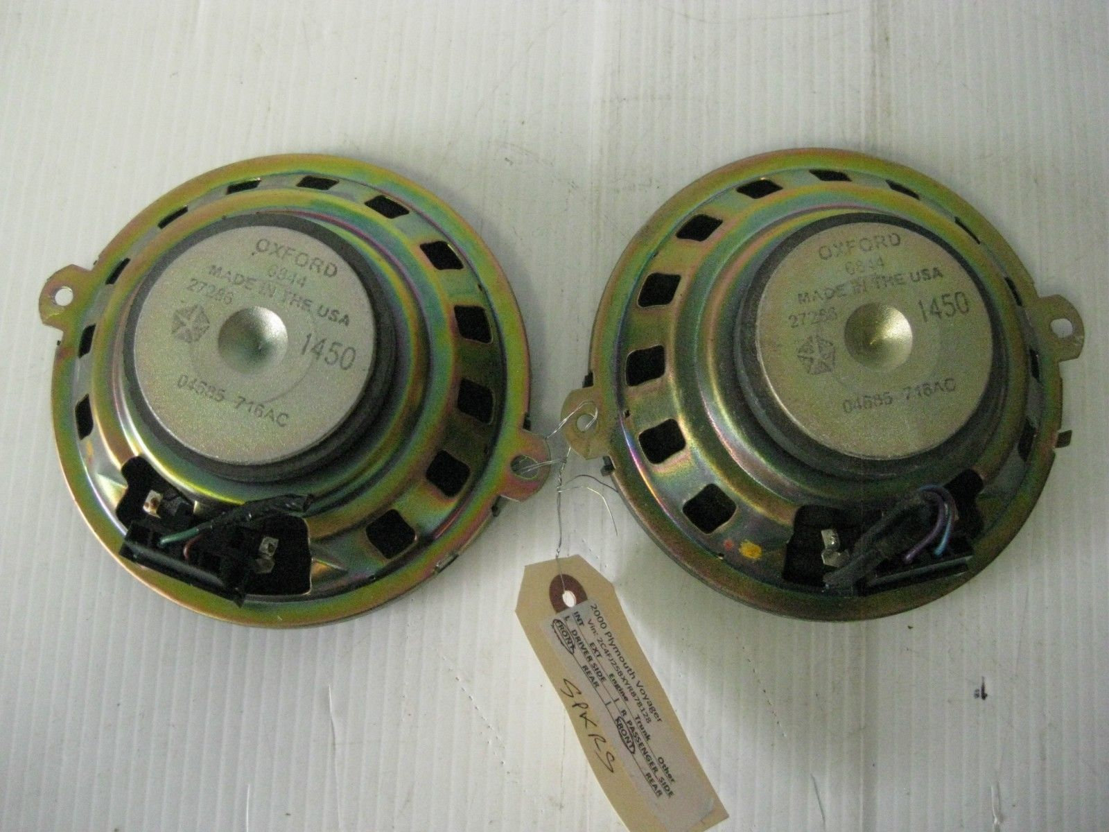 Chrysler Voyager 2000 Speaker Front Dash (1) OEM