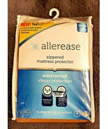 Allerease Waterproof Allergy Protection Zippered Mattress Protector Size... - $19.79