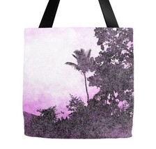Tote bag All over print Design 101 Palm Tree Pink Beach art by L.Dumas - $29.99+