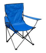 Portable Standard Folding Quad Chair - Blue Fabric/Silver Frame - $31.85