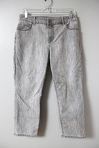 Chico's Light Gray Denim Capris Sz 1.5 Jeans Stretch Womens Cropped Summer  - $14.52