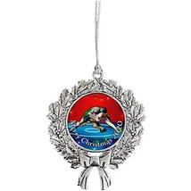 Holly Road Wrestling Greco-Roman Merry Christmas Silver Ornament Choose Frame He - $14.84