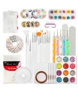 Nail Art Kit, 124 Pcs Diy Nail Art Tools Decoration Manicure Kit Includi... - $33.65