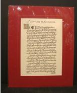 17th Century Nun's Prayer Calligraphy Matted from Ireland - $11.99