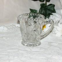 Beautiful Pinwheel Crystal Creamer Cream Jug Pitcher Glass Buzz Star Elegant - $12.37