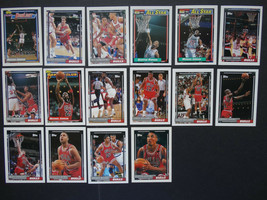 1992-93 Topps Chicago Bulls Team Set Of 16 Basketball Cards NBA Champions - $12.00