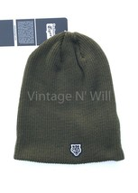 Onitsuka Tiger Asics Japan Army Olive Green Patch Slouchy Wool Beanie Ca... - €39,80 EUR