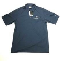 NEW Nike Golf Dri-Fit Polo Shirt Mens S Navy Blue Collared Hunter Pasteur Homes - $18.69