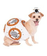 Star Wars BB8 Pet Costume Stuffed Body & Headpiece Sz S,L, XL NEW - $432,75 MXN