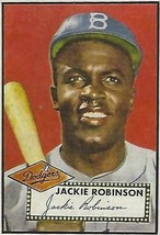 1952 JACKIE ROBINSON TOPPS # 312  DODGER RP GREAT ICONIC CARD - $2.84
