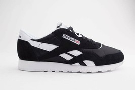 Reebok Classic Nylon Men's Black White Sneaker Shoes 6604 - $75.99