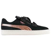 Puma Mujer Corazón Zapatos de ante Zapatillas Satén Oro Rosa Rosa Negro ... - $46.82