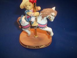 1998 CHERISHED TEDDIES - GINA  #9E1/191 TEDDY on CAROUSEL HORSE   - $1.98