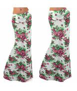 Women Sexy Waist Maxi Retro Floral Dressy Bodycon Long Skirt L  Party! - $10.89