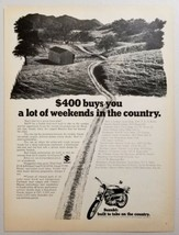 1970 Print Ad Suzuki Trail Motorcycles Country Road for Riding - $11.56