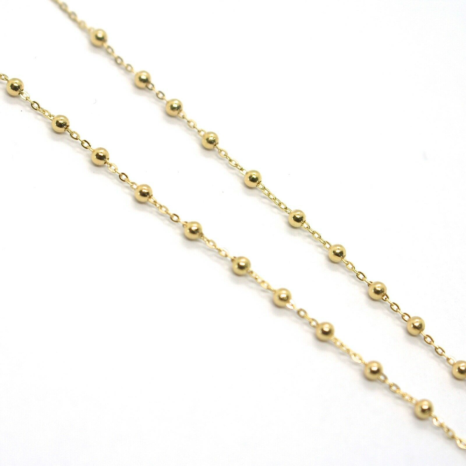 Mini Collar Rosario Oro Amarillo 750 18K, Medalla Milagrosa, Cruz, 48 CM image 5