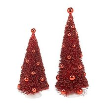 Department 56 Snowbabies Classics Red Trees with Red Orns, 10.25 inch