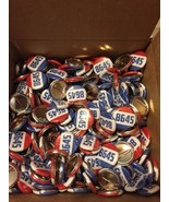 Lot of 5 (five)  8645 pinback anti Trump 1 inch buttons - $9.90