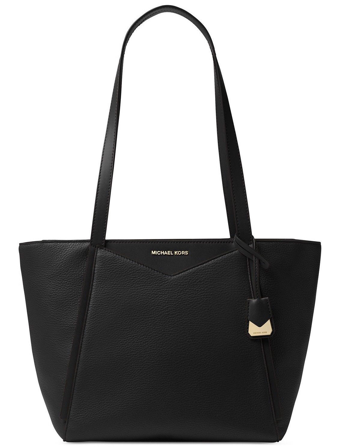 Michael Kors Whitney Medium Black Leather Tote NWT