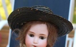 Vintage Black Straw Hat for an Antique Doll - $36.47