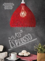 Z599 Crochet PATTERN ONLY Ruby's Café Lampshade Pattern - $8.50