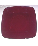 MID CENTURY MODERN 1960'S RETRO- ANCHOR HOCKING GLASS RUBY RED CHARM LUN... - $10.95