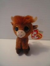 """Ty Beanie Boos 4""""  Angus the Highland Cow Clip On UK Limited Mint - $4.94"""